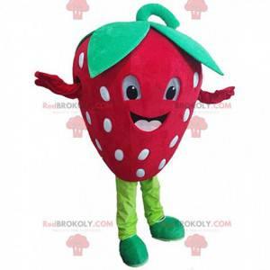 Riesiges rotes Erdbeermaskottchen, Erdbeerkostüm -