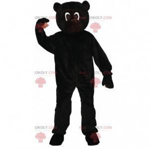 Mascotte zwarte aap, kostuum reusachtige marmoset -