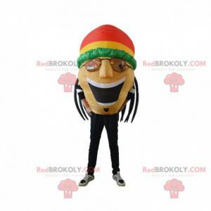 Mascot inflatable rastaman, Jamaicans with dreads -