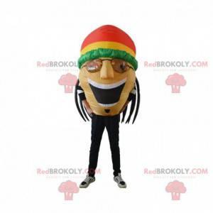Mascotte gonfiabile rastaman, giamaicani con dreadlocks -