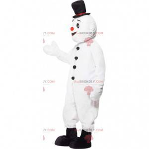 White snowman mascot with a hat - Redbrokoly.com