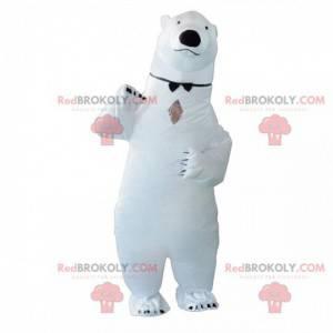 Nafukovací maskot ledního medvěda, kostým obřího ledního