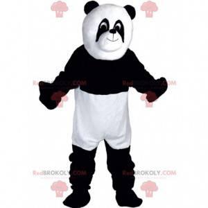 Maskot bílé a černé pandy, dvoubarevný kostým medvídka -