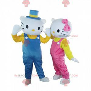 2 maskotter af Hello Kitty og Dear Daniel, berømte katte -