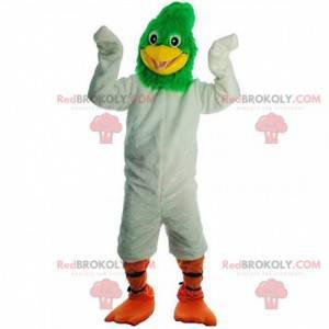 Mascot Geococcyx, giant white and green bird - Redbrokoly.com