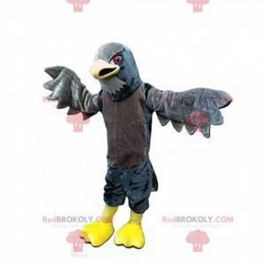 Maskot obří šedý jestřáb, kostým šedého orla - Redbrokoly.com