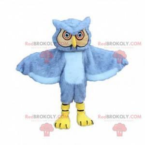 Gray and yellow owl mascot, giant owl costume - Redbrokoly.com