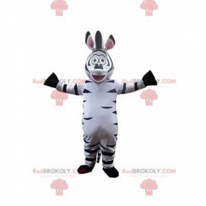 Maskottchen Marty, das berühmte Cartoon-Zebra - Redbrokoly.com