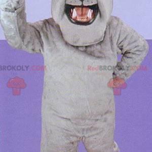 Grå bulldog maskot - Redbrokoly.com