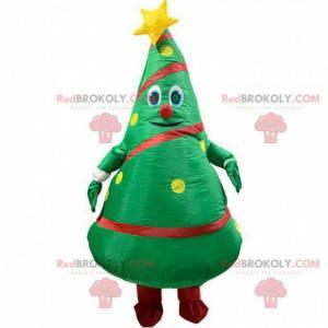 Opblaasbare kerstboom mascotte, kerstboom kostuum -