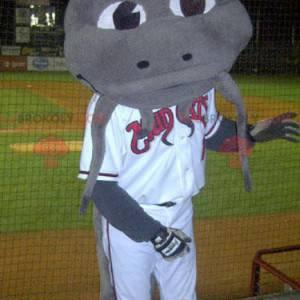 Mascote dragão cinzento - Redbrokoly.com