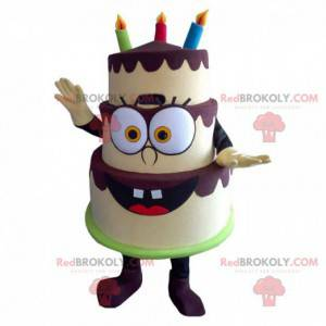 Velsmakende bursdagskake maskot, høytidskostyme - Redbrokoly.com