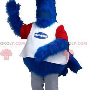 Strauß Maskottchen blau weiß und rot - Redbrokoly.com