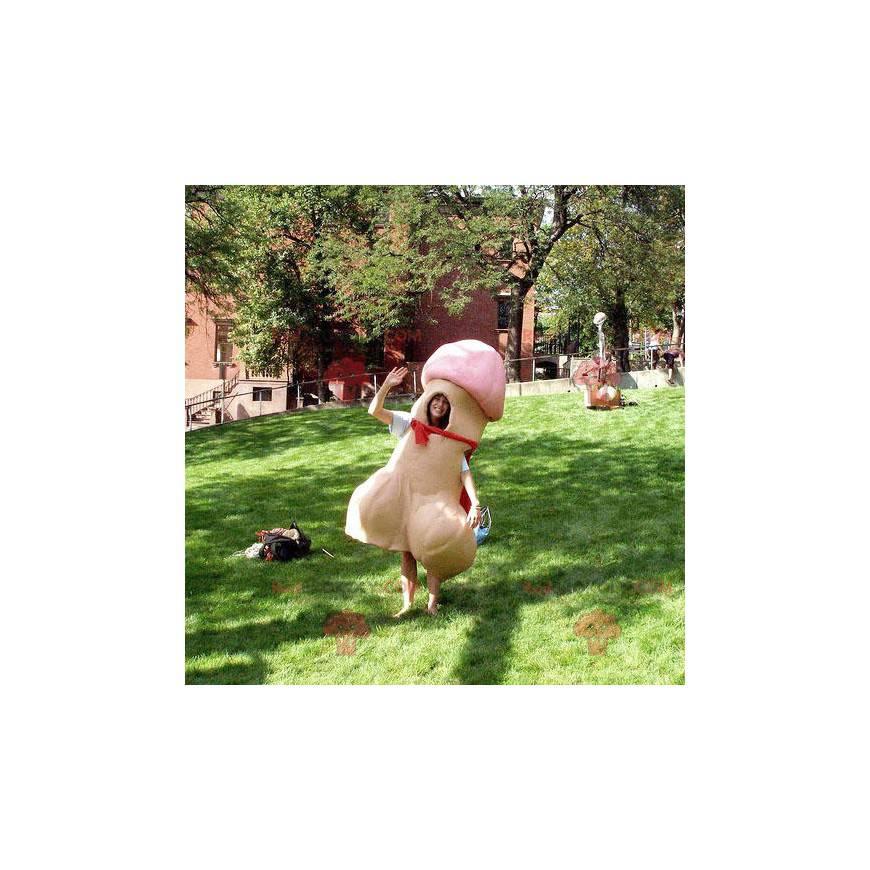Maskot obří penis béžové a růžové - Redbrokoly.com