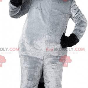 Maskot sort og grå vaskebjørn. Vaskebjørn kostume -