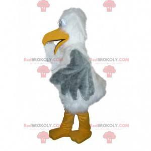Majestätisches Albatros-Maskottchen weiß und grau -