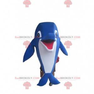 Fantastische blauwe dolfijnmascotte - Redbrokoly.com