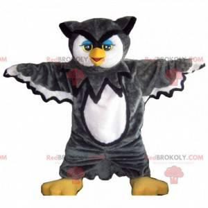 Surprising black and white owl mascot - Redbrokoly.com