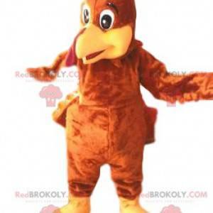 Mascotte van Turkije en zijn mooie bruine verenkleed -