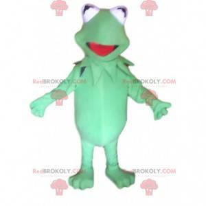 Super roztomilý a komický maskot zelená žába - Redbrokoly.com