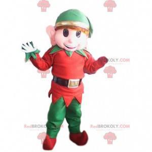 Mascotte elfo infantile con le sue grandi orecchie -