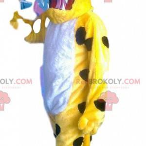 Super krásný a zábavný maskot žlutého leoparda - Redbrokoly.com