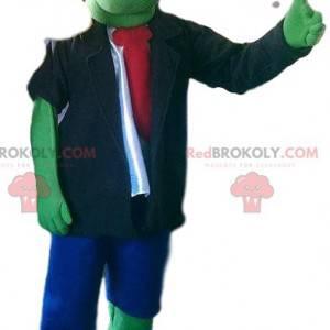 Maskot monstrózního zeleného Frankensteina a jeho hnědé blůzy -