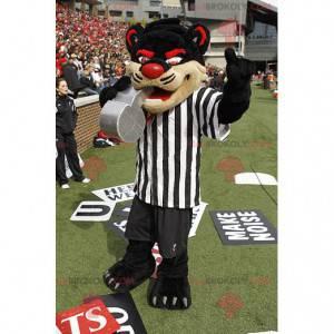 Mascot black red and beige cat - Tiger mascot - Redbrokoly.com