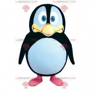 Maskot tučňáka s velkými dotýkajícími se očima - Redbrokoly.com