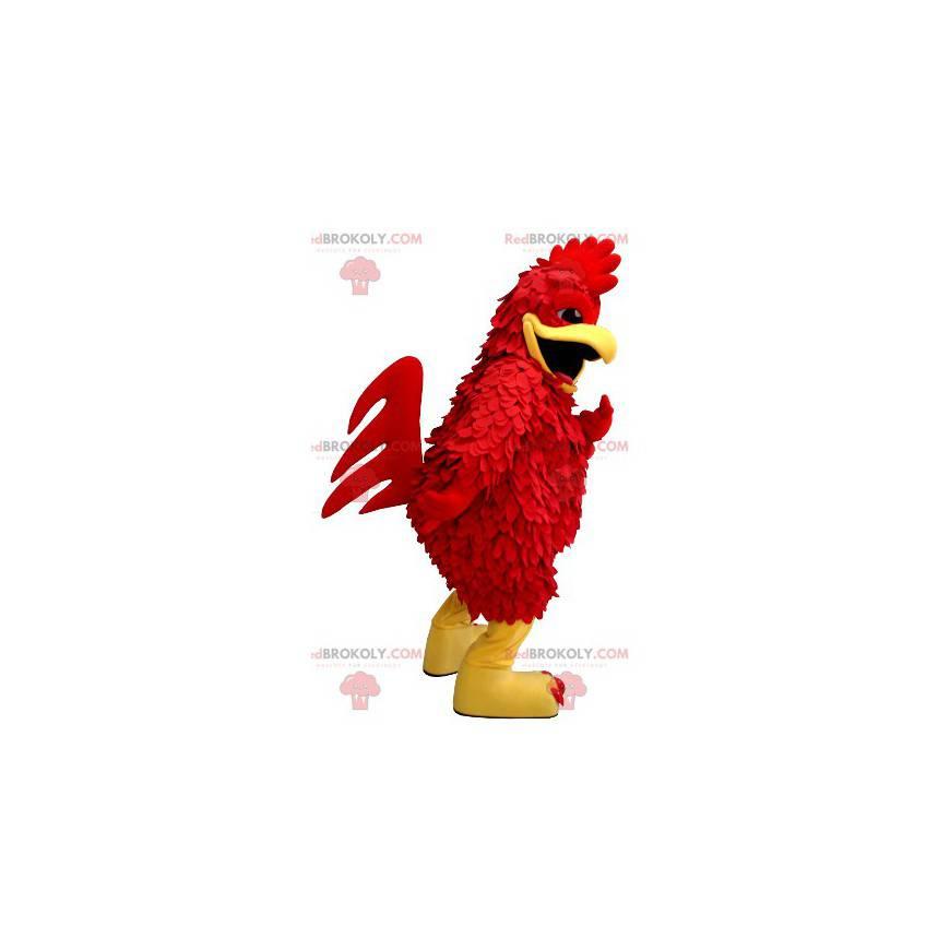 Rote und gelbe Hahn Maskottchen Riesenhenne - Redbrokoly.com