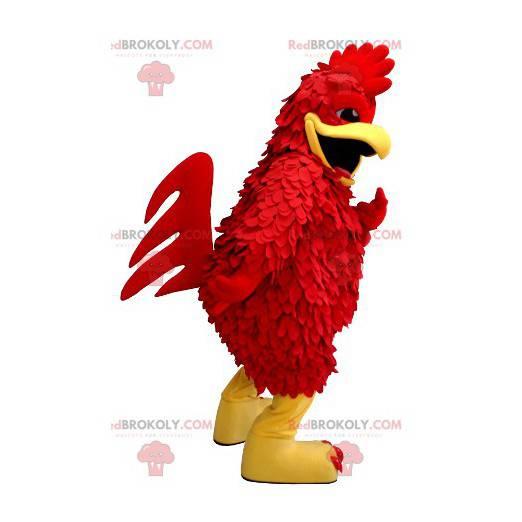 Maskot červený kohout a žlutá obří slepice - Redbrokoly.com