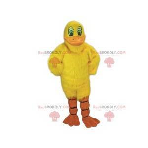 Mascota de pato amarillo lindo y sonriente - Redbrokoly.com