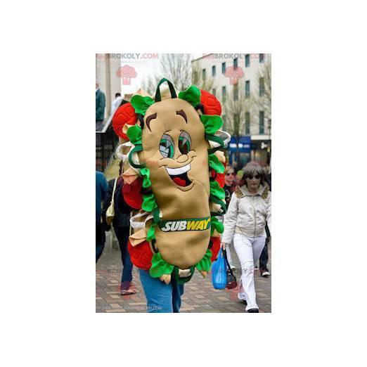 Obří a usměvavý sendvič maskot - maskot metra - Redbrokoly.com