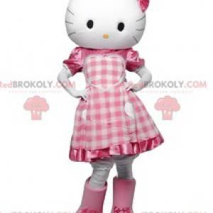 Hallo Kitty Maskottchen, kokette kleine weiße Katze -