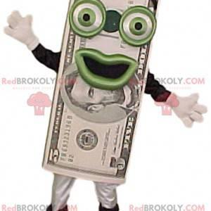 Maskotka banknot 5 dolarów z jego wielkim uśmiechem -