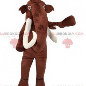 Magnifica mascotte mammut con gli occhi rossi - Redbrokoly.com