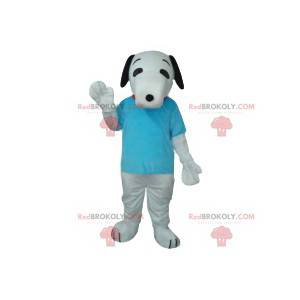 White dog mascot with his turquoise t-shirt - Redbrokoly.com