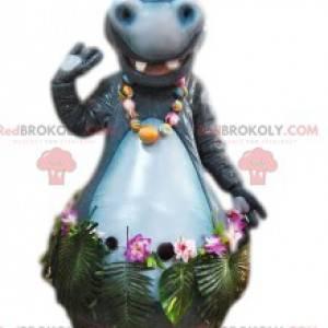 Mascote Gloria, a linda hipopótamo de Madagascar -