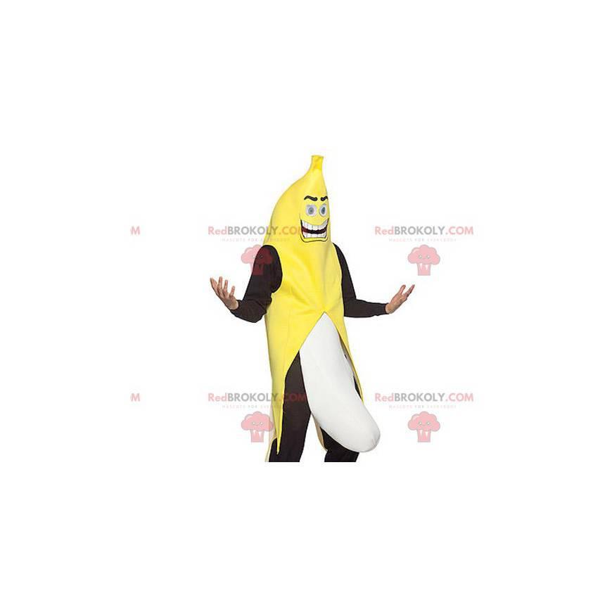 Obří černobílý žlutý banánový maskot - Redbrokoly.com