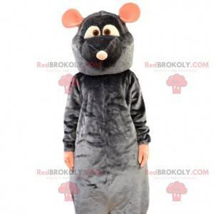 Mascot Rémi, de kleine grijze rat van Ratatouille -