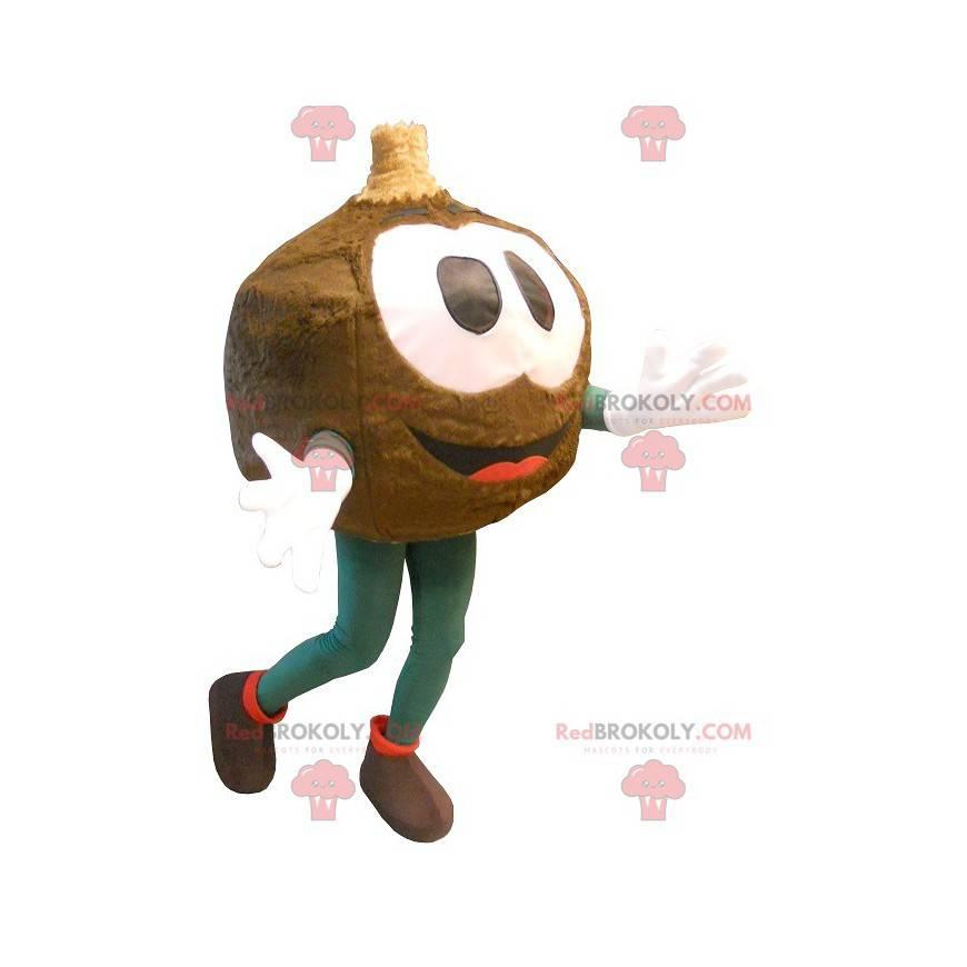Big brown round head mascot - Redbrokoly.com