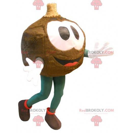 Stor brun rundhodet maskot - Redbrokoly.com