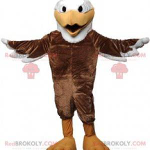 Majestic eagle mascot with its beautiful brown plumage -