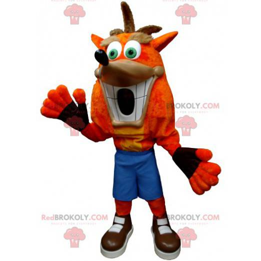 Bandicoot havaroval maskot slavné postavy z videohry -