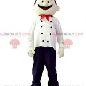 Chef mascot with his white hat - Redbrokoly.com