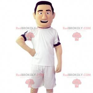 Fotballspiller maskot med sin hvite trøye - Redbrokoly.com