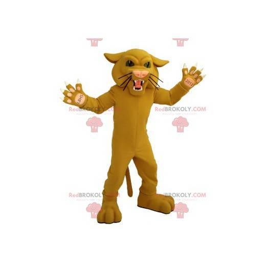 Brüllende Katze beige Tiger Maskottchen - Redbrokoly.com