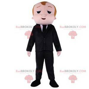Maskot muž v obleku a černé kravatě - Redbrokoly.com