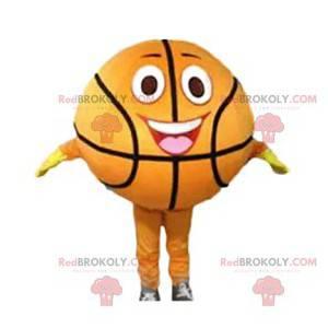 Super lächelndes und lustiges Basketballmaskottchen -