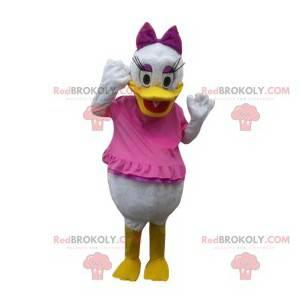 Mascot Daisy Duck, de verloofde van Donald Duck in het roze -